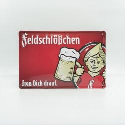 """Blechschild """"Feldschlößchen"""""""
